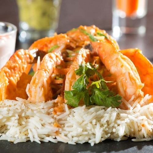 Prawns with Coconut Thai Curry